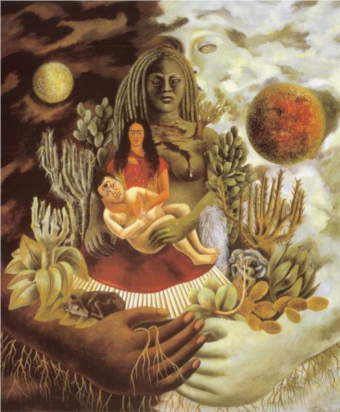 Connectedness-Frida-Kahlo-The-Love-Embrace-of-the-Universe-the-Earth-Mexico-Myself-Diego-and-Señor-Xólotl-1949