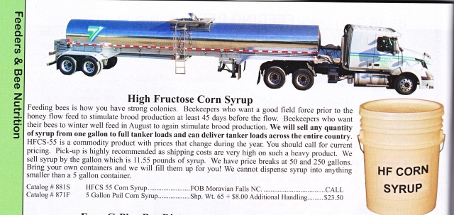 high fructose corn syrup and bees