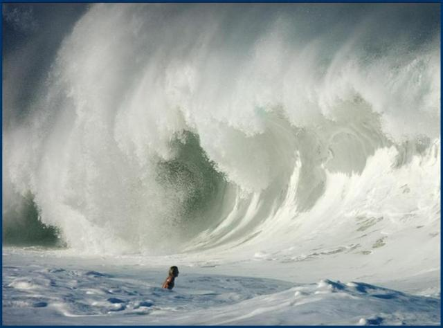 big wave and courage